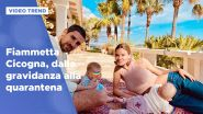 Fiammetta Cicogna, dalla gravidanza alla quarantena a Ibiza
