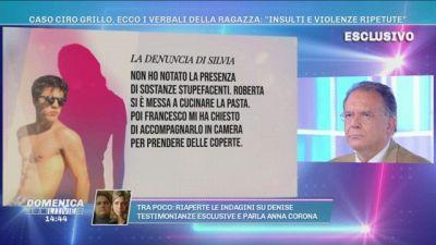 """Caso Ciro Grillo, ecco i verbali della ragazza: """"Insulti e violenze ripetute"""""""