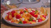 Insalata di melone e formaggio giuncata