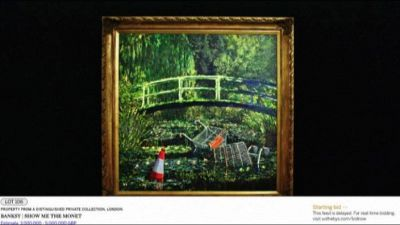 "Venduto all'asta il capolavoro di Banksy ""Show me the Monet"""