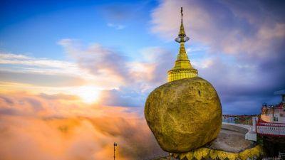 La roccia d'oro sul monte Kyaiktiyo, una sfera leggendaria