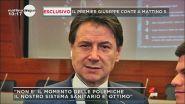 Il premier Giuseppe Conte a Mattino 5