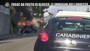 Salerno, fugge al posto di blocco e si schianta: le immagini dell'arresto