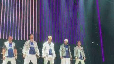 I Backstreet Boys con la maglia dell'Inter