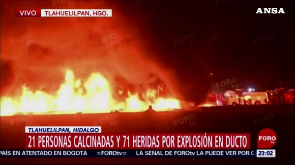 Incendio in oleodotto in Messico, almeno 20 morti