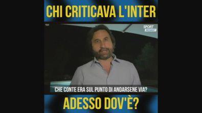 """De Carlo: """"Chi criticava l'Inter adesso dov'è?"""""""