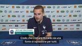 """Griezmann: """"Ronaldo un esempio per tutti"""""""