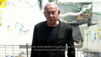 Israele, Netanyahu definisce il disastro del monte Meron una delle peggiori cose accadute al Paese