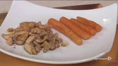 Pollo caramellato alle carote