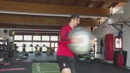 Milan: Ibra, allenamento dal marine