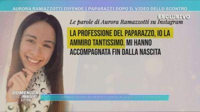 Aurora Ramazzotti difende i paparazzi dopo il video dello scontro