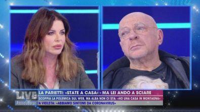Coronavirus: polemica sul web per Alba Parietti