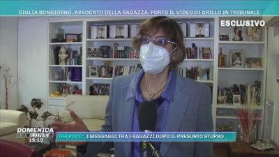 Giulia Bongiorno, avvocato della ragazza: porto il video di Grillo in tribunale