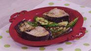 Pesce spada al vapore con verdure grigliate