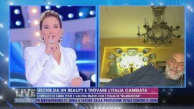 """Paolo Brosio a Live - Non è la d'Urso: """"Mi sono appisolato un attimo"""""""