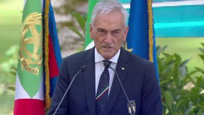 """Nazionale, Gravina: """"L'Italia e' la grande bellezza"""""""