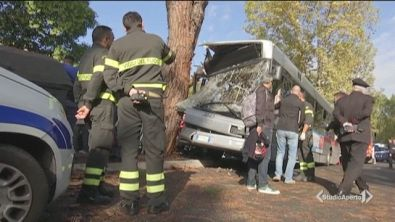 Bus contro un albero, 29 feriti