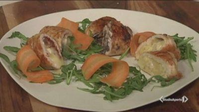 Involtini di pollo ai tre ripieni