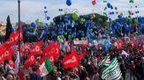 """No ai fascismi"", sindacati uniti a piazza San Giovanni"