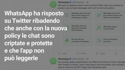 Privacy: la risposta di WhatsApp