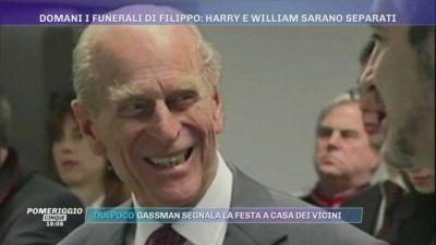 Domani i funerali di Filippo: Harry e William saranno separati