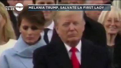 La tristezza negli occhi di Melania Trump