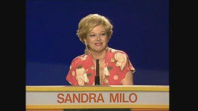 Sandra Milo al Gioco dei 9 nel 1989