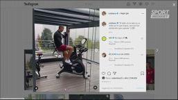 Cristiano Ronaldo, nuovo look e allenamento in casa