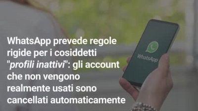Perché WhatsApp cancella gli account