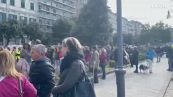 Corteo no green pass a Trieste: 'Voi bloccate la vita, noi la citta''