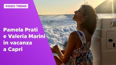 Pamela Prati e Valeria Marini in vacanza a Capri