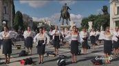 L'addio delle hostess di Alitalia