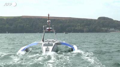 La prima nave senza pilota si prepara per il viaggio inaugurale dal Regno Unito