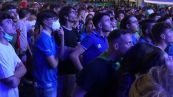 Europei, Italia - Spagna vista dalla fanzone in piazza a Roma