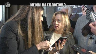 MARTINELLI: Giorgia Meloni: dal comizio a X Factor, Malgioglio permettendo