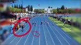 """Cameramen più veloce degli atleti e """"vince"""" la gara del 100 metri"""