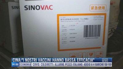 """Breaking News delle 14.00   Cina: """"I nostri vaccini hanno bassa efficacia"""""""