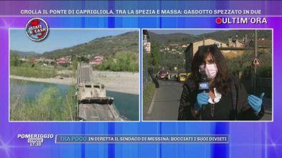 Crolla il ponte di Caprignola, tra La Spezia e Massa: un ferito