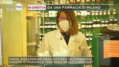 Virus, caso mascherine