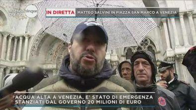 Salvini in diretta da Piazza San Marco