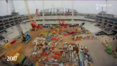 Tottenham, il timelapse del nuovo stadio