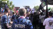 Festa Inter, i tifosi fuori dallo stadio di San Siro