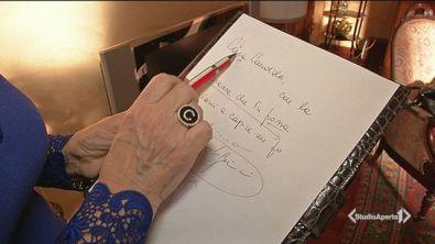 La calligrafia di Alfonso Signorini