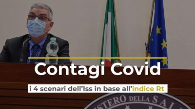 Contagi Covid, i 4 scenari dell'Iss in base all'indice Rt