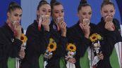 Olimpiadi Tokyo 2020, le Farfalle conquistano il bronzo nella ritmica