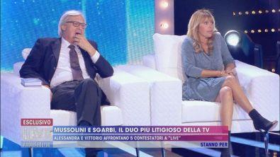 Alessandra Mussolini e Vittorio Sgarbi contro tutti