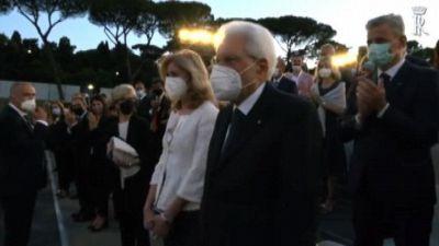 """Opera Roma, applausi per Mattarella alla prima con """"Il trovatore"""""""