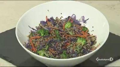 Quinoa con julienne di verdure