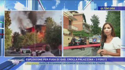 Roma: esplosione per fuga di gas, crolla palazzina