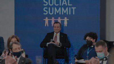 Draghi al Social Summit di Porto: cosa ha detto sul mondo del lavoro